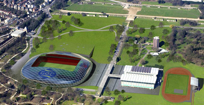 artists impression CPFC stadium in CPPark